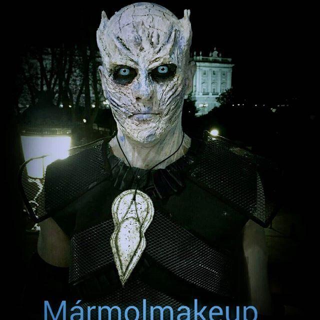 Caracterización de #reydelanoche #kingofthenight  #got #juegodetronos #whitewalker #caminanteblanco #love #gameofthronesfan #gameofthrones  #hbo #cafedeoriente #palacioreal #madrid #prosthetics #sfx #caracterizacion  #makeup #protesis  #maquillaje #zombie #cosplay  #gameofthronescosplay #thewinteriscoming  #maquillajeefectosespeciales #latex #makeupfun #facepaintgoals  #facepaintersofinstagram #eventospiedralibre