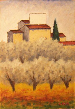 Ottone Rosai - Campagna Toscana OTTONE ROSAI (Firenze, 28 aprile 1895 – Ivrea, 13 maggio 1957) #TuscanyAgriturismoGiratola