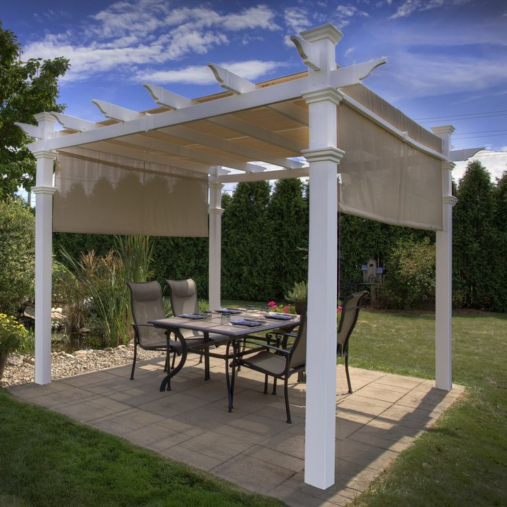 New England Arbors Eden Malibu 10 Ft. W x 10 Ft. D Vinyl Pergola & Reviews | Wayfair