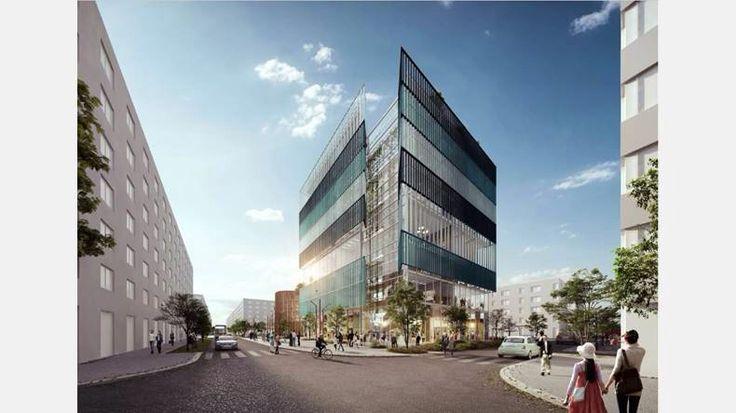 """Vinnande förslaget """"Nova"""" från Castellum/Enter arkitekter. Central tomt i Inre hamnen."""