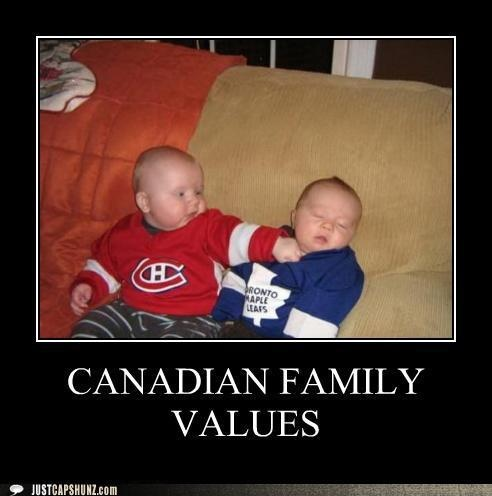 We love our #Hockey, don't we, #Ptbo? Saw this and had to pin!! Hockey Rivalry: Leafs vs. Habs