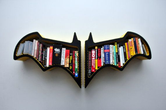 Classic Batman Bookshelves by FictionFurniture on Etsy, $293.00