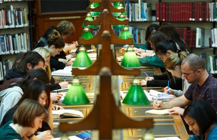 Researching in the La Trobe reading room