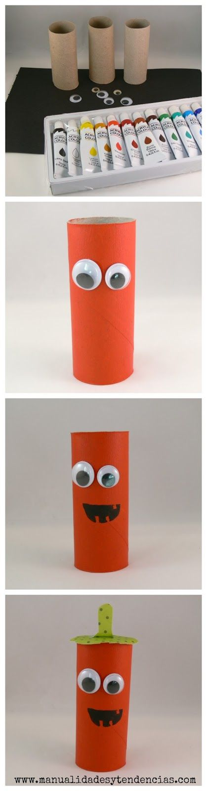 Halloween: monstruos con rollos de papel /Toilet paper roll monsters