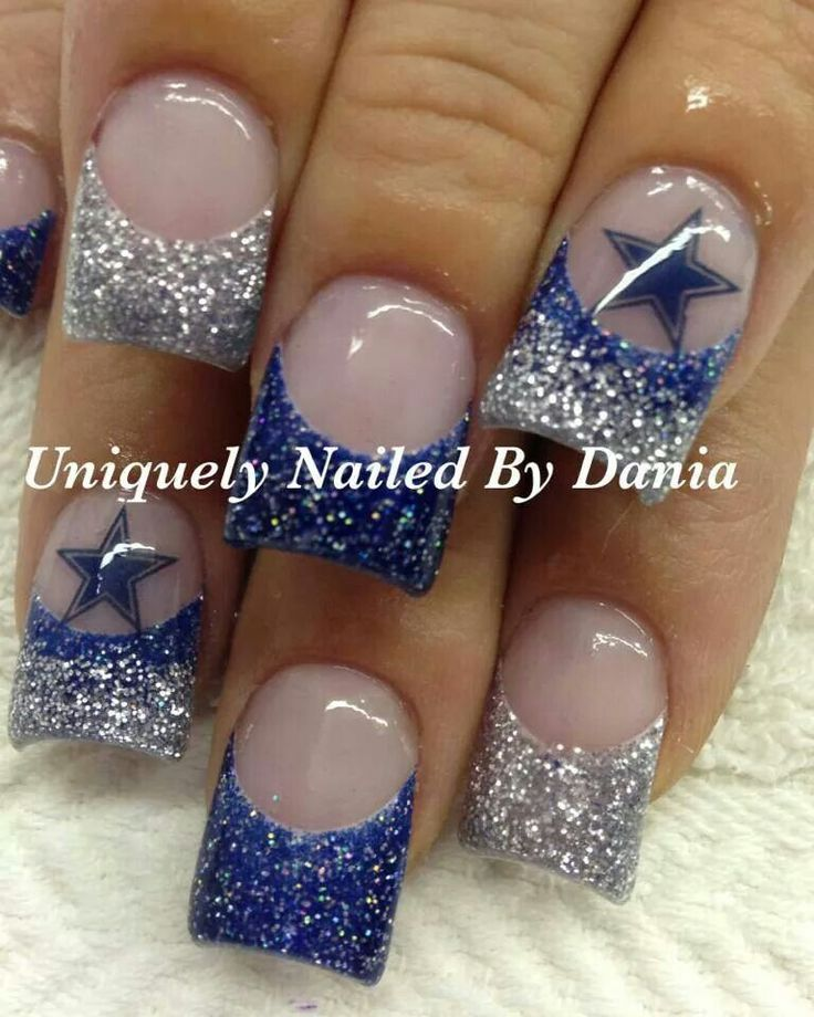Dallas Cowboys acrylic nails