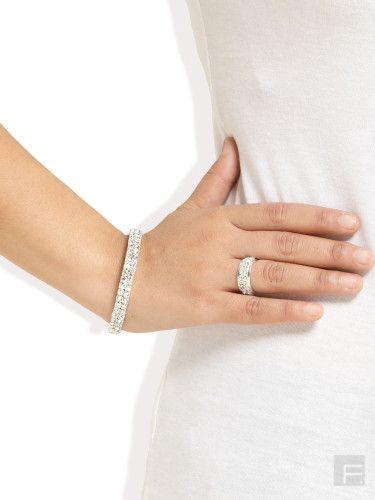 DIOVANNI // Sparkling Bracelet & Ring Set