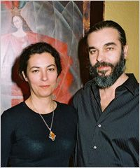 Vladimir and Daniela Ovtcharov — The husband and wife team of artists emigrated to the U.S. from their native Bulgaria in 1996. Daniela Ovtcharov became well-known for her conservation and restoration of ancient, medieval and modern art while Vladimir illustrated books and made fine silver jewelry and enamel pieces; both draw on traditional orthodox icons and sacred arts as their inspiration.