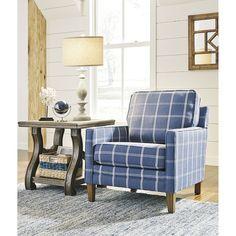 Best Signature Design By Ashley Adderbury Accent Chair Blue 400 x 300