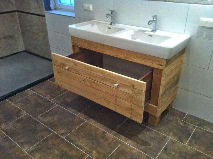 Wooden Pallet Bathroom Sink