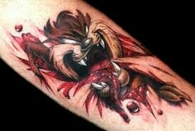 Taz rip skin tattoo