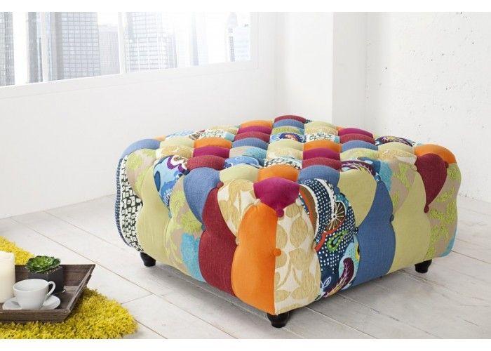 Chesterfield Stool  #colorfulfurniture #multicoloured #colors #interiordesign #homedecor #irenesworld #yourhome #yourplayground
