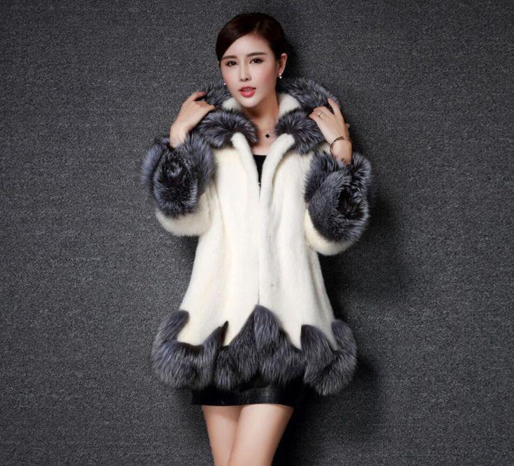 Femmes Manteau De Fourrure 2016 Hiver Nouveau Design Imitation Renard Manteau De Fourrure vison L'europe De Luxe Femmes Long Jupe Styles Faux Manteau De Fourrure Des Femmes 4XL(China (Mainland))