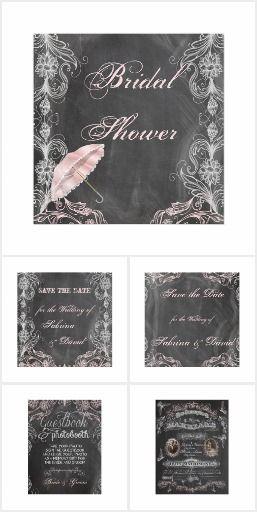 Antique Pink Chalkboard Wedding #chalkboard #wedding #invitations