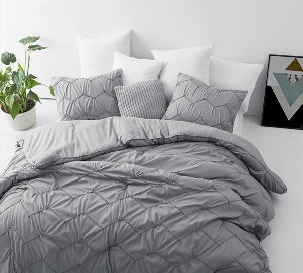 Barstow Textured Waves 3 Piece Comforter Set With Images Grey