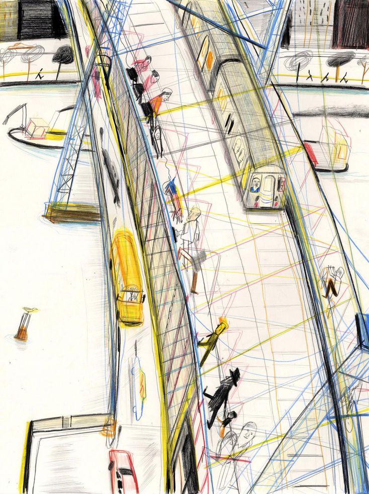 Williamsburg Bridge 2 | Williamsburg Bridge 2 | Yann Kebbi Américanin | Expositions | Galerie | Michel Lagarde, 13 rue Bouchardon 75010 Paris