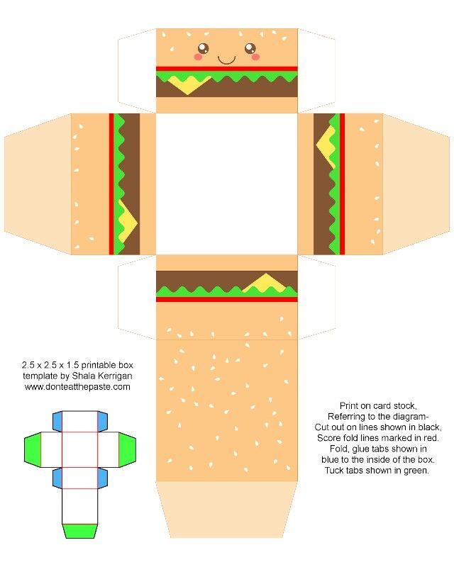 Cajita hamburguesa.