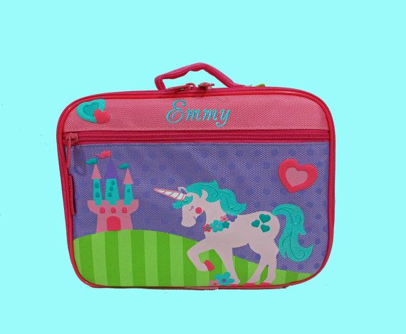 Personalized Stephen Joseph UNICORN Lunchbox by DeerpathDesigns