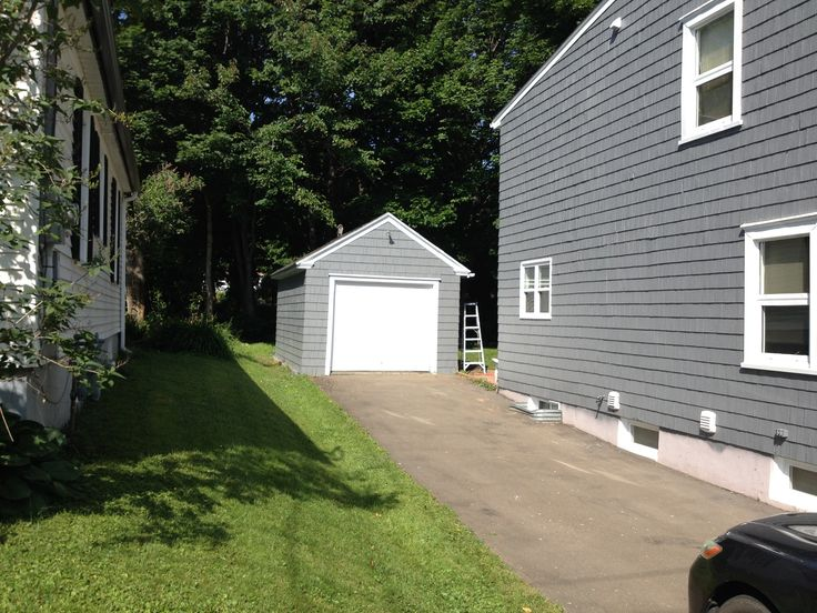 House and garage painted