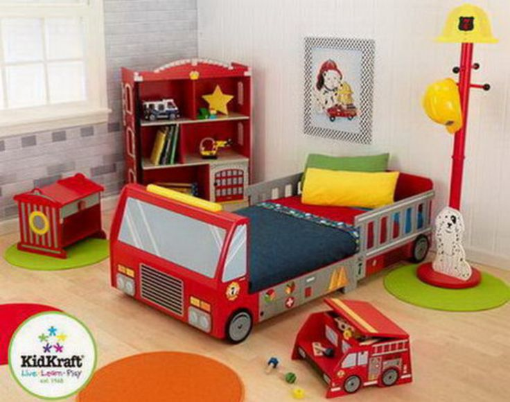 firefighter bedroom ideas. firefighter themed bedroom for your future lifesaver! look at all the adorable furniture! ideas e