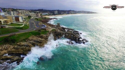 Margate. South Africa. View from above...