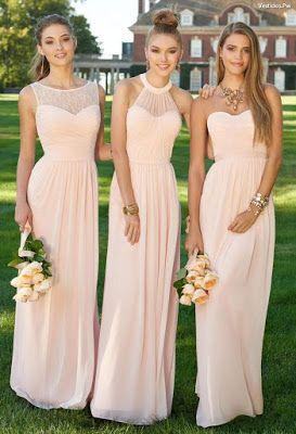 Vestidos de damas de boda 2019