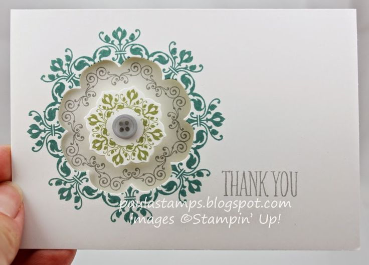 Cute! Daydream Medallions, Floral Framelits. Stampin Up! paulastamps. The Stamp Review Crew: Daydream Medallions