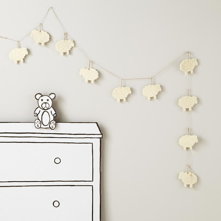 Counting Sheep Garland in Hanging Décor | The Land of Nod
