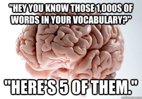 Me on paper vs. me aloud.