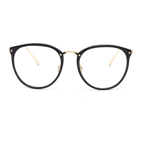 LINDA FARROW GALLERY Round frame eye glasses ($540) ❤ liked on Polyvore featuring accessories, eyewear, eyeglasses, glasses, linda farrow glasses, linda farrow and linda farrow eyewear