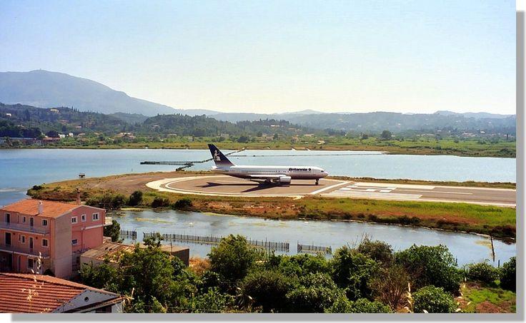 Corfu airport.