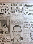 1933 NY Daily News newspaper Gangster MACHINE GUN KELLY CAPTURED by FBI G-Men