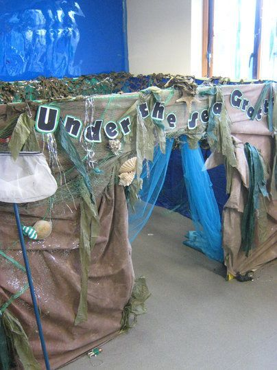 Under The Sea Grotto- perfect corner for quiet activities and reading