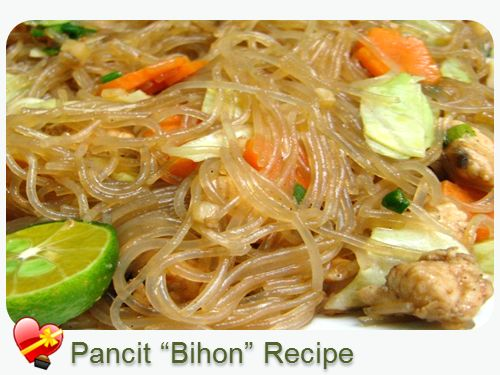 Pancit Recipe - ILoveHawaiianFoodRecipes