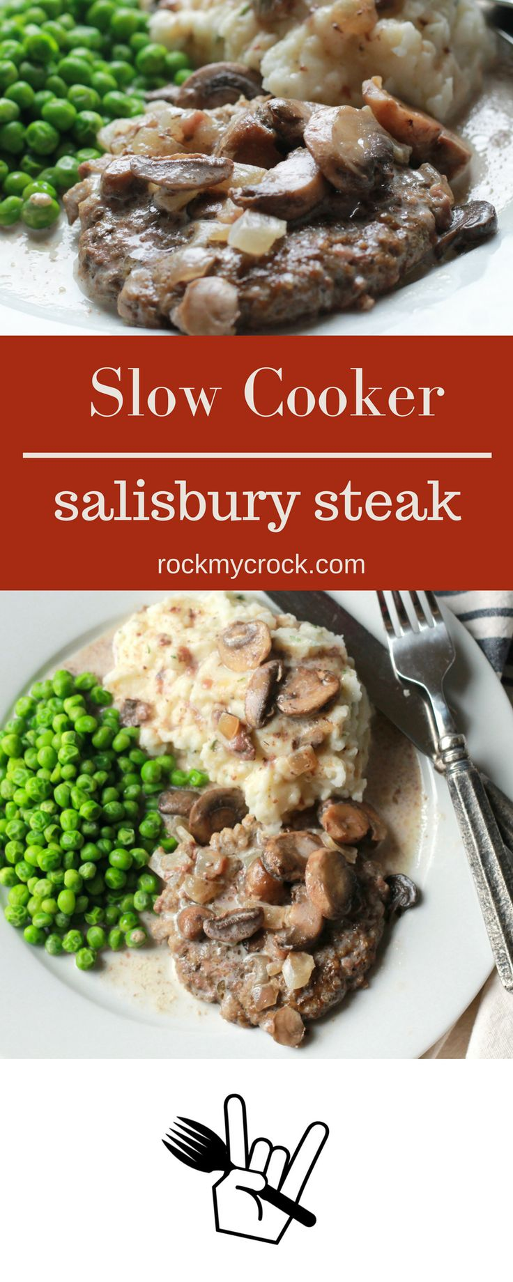 Slow Cooker SALISBURY STEAK! OH MY GOSH this is so good and so easy. The family…