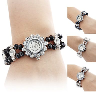 Mujeres Flores aleación con forma de diamante estilo analógico reloj pulsera de cuarzo (colores surtidos) 447457 2016 – €3,399.00