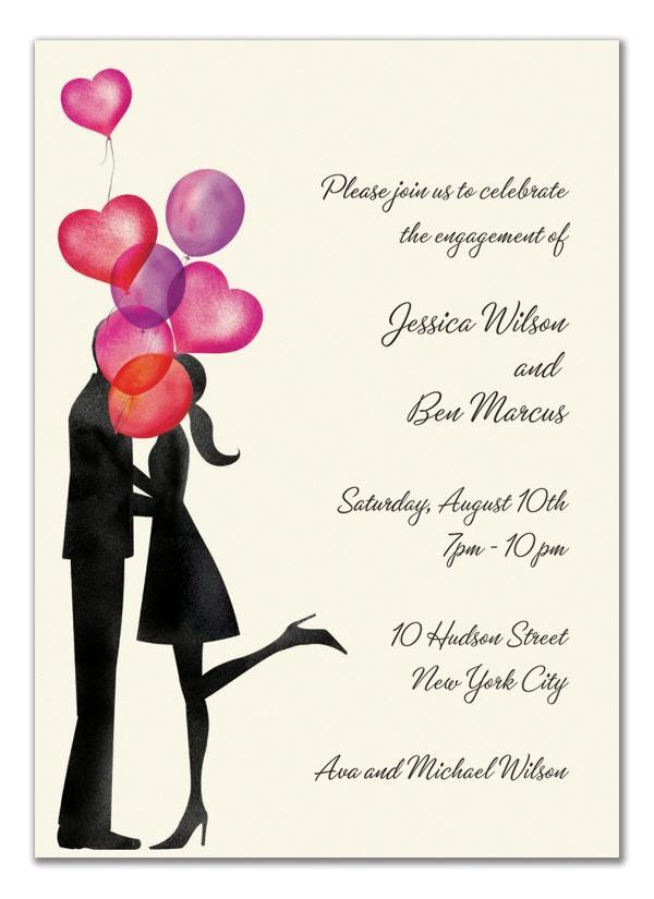 Engagement party invite option