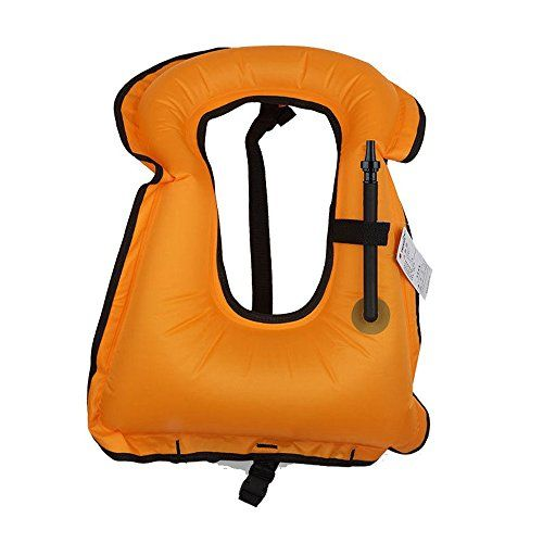 [KuYou] Adult Snorkel Vest Life Vest Jacket for Snorkeling/Paddle/Swimming /Free-Diving Dive Safety Water Safety TPU Inflated, High Visibility, Durable, Lock oral Valve. (Orange) - http://scuba.megainfohouse.com/kuyou-adult-snorkel-vest-life-vest-jacket-for-snorkelingpaddleswimming-free-diving-dive-safety-water-safety-tpu-inflated-high-visibility-durable-lock-oral-valve-orange/