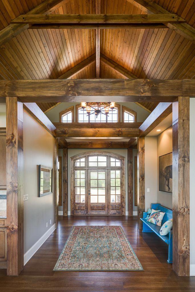 Ridge Top Heavy Timber Beams Luxury Home Built By Buchanan