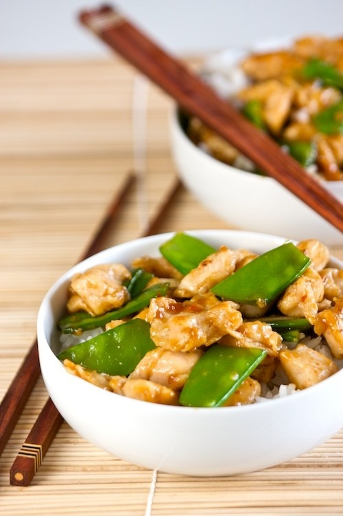 Healthier General Tso's Chicken by kitchensimplicity as adapted from marthastewart: Stir fried until tender and crisp with all the goodness but much less fat than the usual deep fried version.