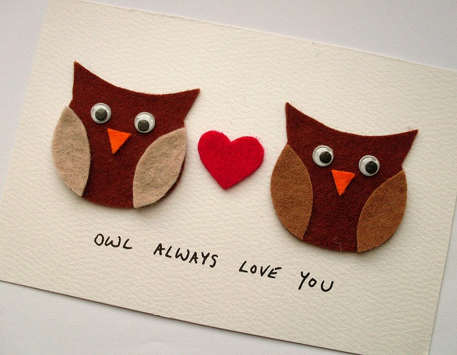 "DIY ""Owl Always Love You"" Valentine's Day Card"