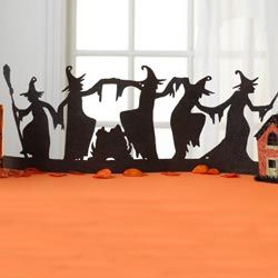 dancing witches silhouettes - would be cute on the window