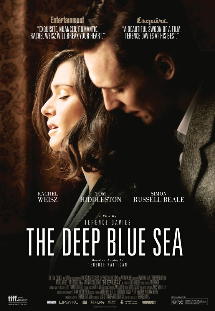 """The Deep Blue Sea (2011) I think Tom Hiddleston said it best himself, """"this film is like a shard of glass to the heart."""""""