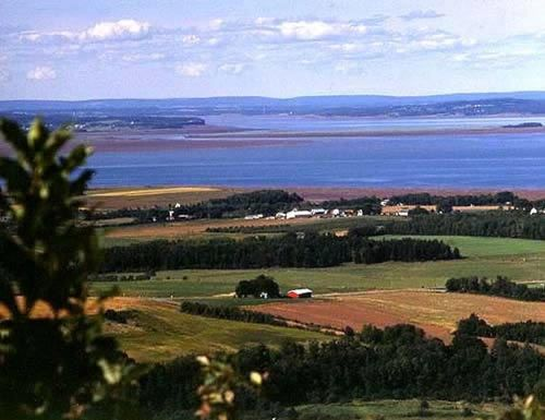 The Look Off - Canning, Nova Scotia, Canada. Overlooking the Annapolis Valley and the Bay of Fundy