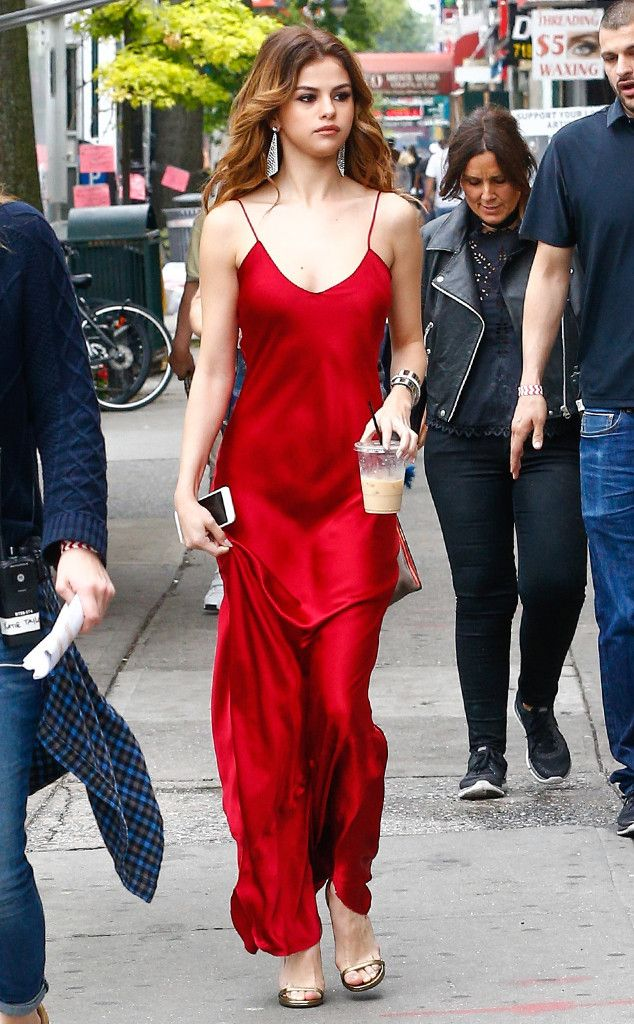 Selena Gomez Sizzles in 2 Red Hot Dresses and Enjoys a National Doughnut Day Treat | E! News