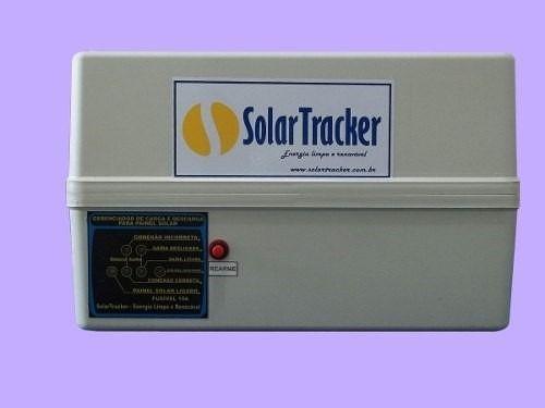controlador de carga solar 12 v 10 a + caixa p/ bateria
