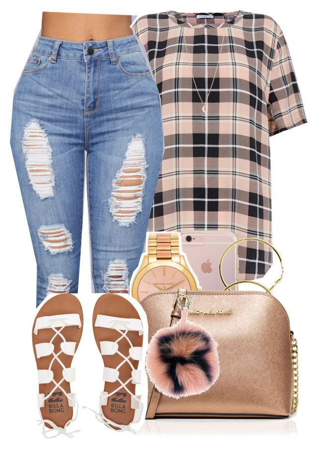 """"""" you look good boy you could be my main thing """" by mindlesspolyvore ❤ liked on Polyvore featuring Equipment, Minor Obsessions, Michael Kors, MICHAEL Michael Kors, Fendi and Billabong"""