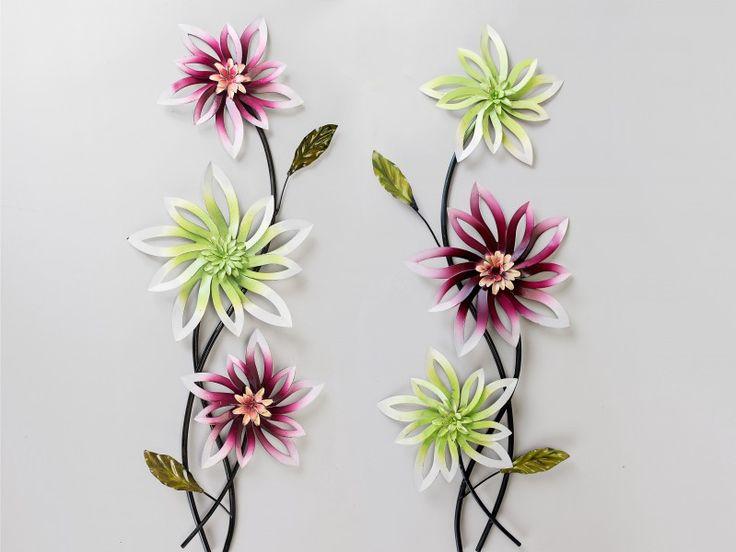formano wanddeko blume, 68 cm, rot-braun, sortiert, Garten und bauen