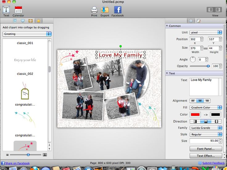 Picture Collage Maker for Mac, Photo editing app