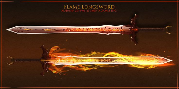 Flame sword by Bing0ne on DeviantArt