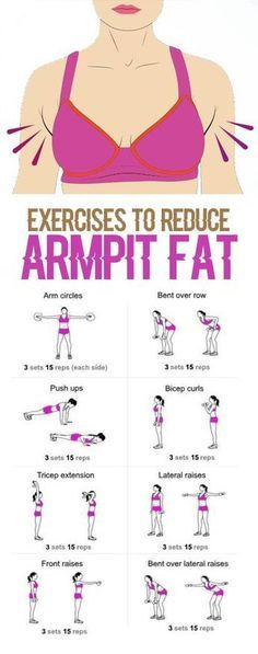 Exercises to reduce armpit fat.